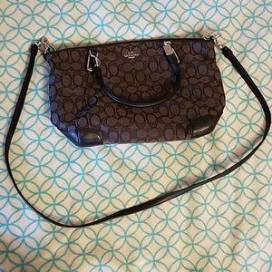 Black Coach crossbody shoulder bag purse